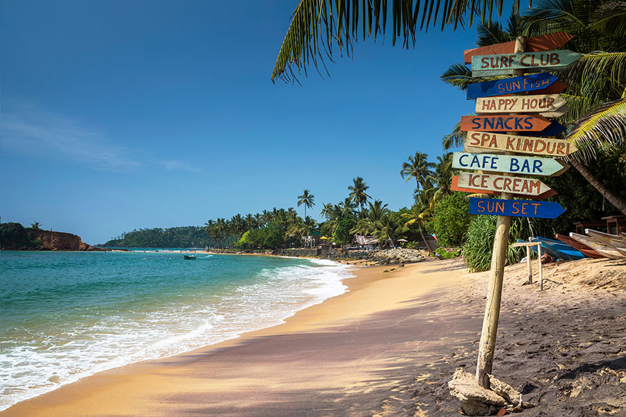 Disfruta del clima tropical de Sri Lanka