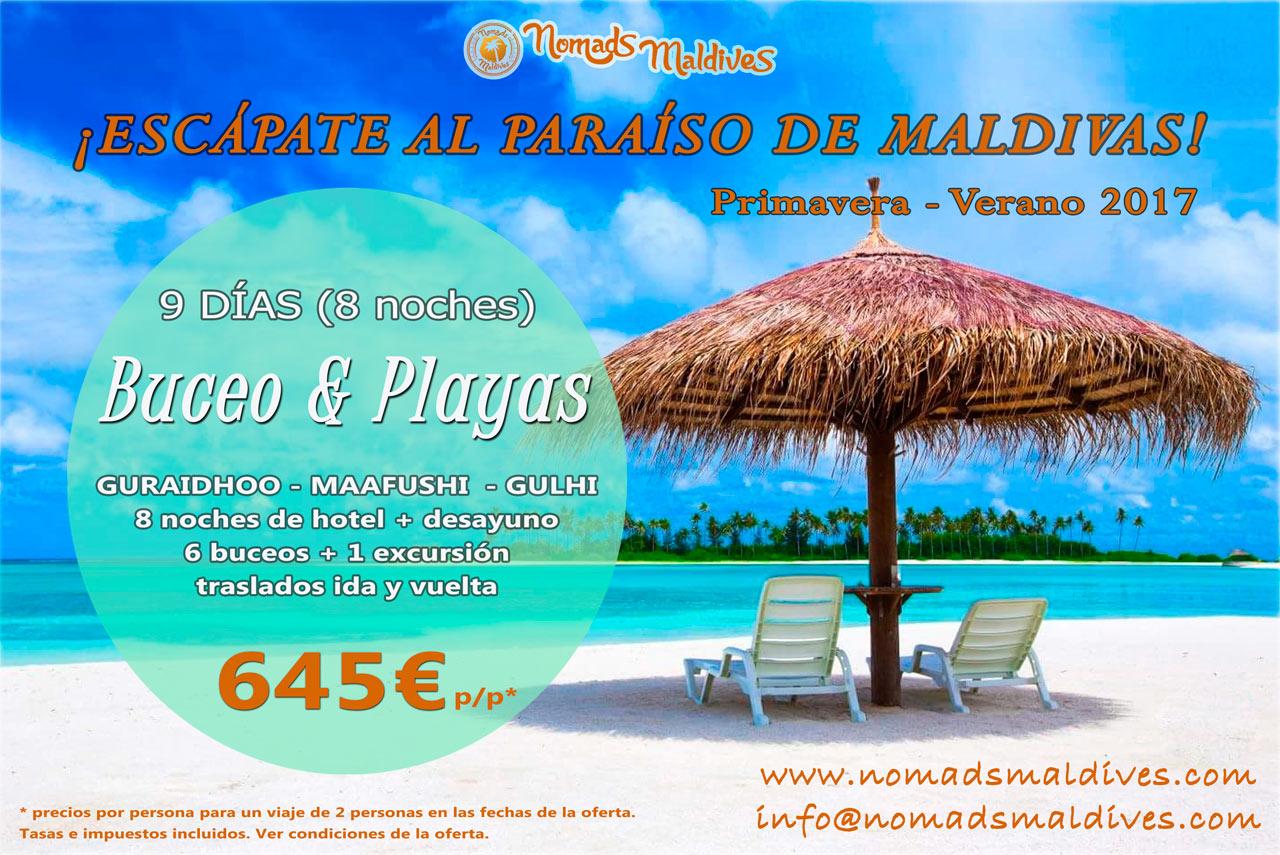 Oferta de viaje a Maldivas - Buceo en Maldivas y playas - Islas Locales