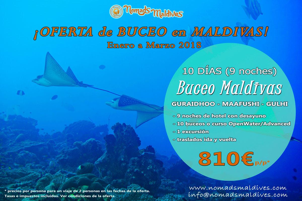 Oferta de viaje a Maldivas – Año nuevo de buceo en Maldivas