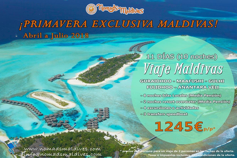 Oferta de viaje a Maldivas – Primavera exclusiva en Maldivas