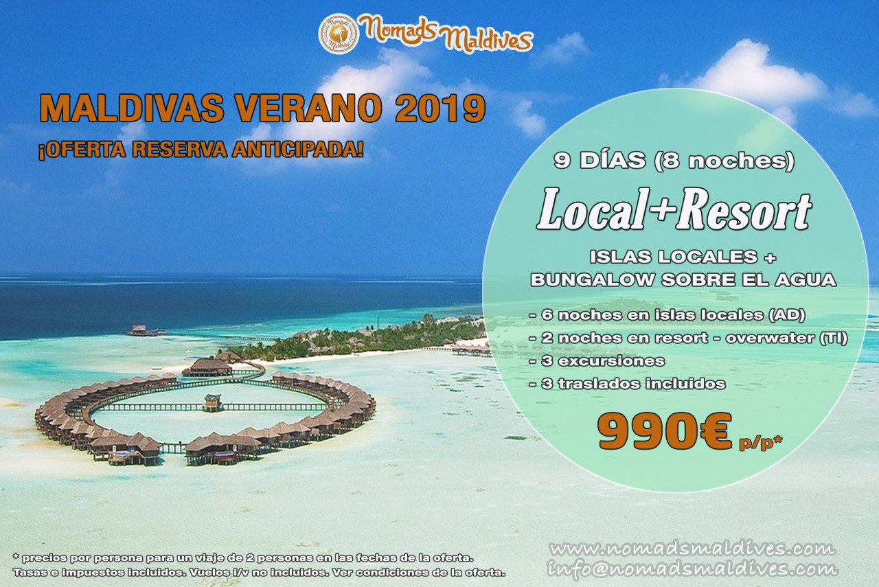 Viaje a Maldivas - Oferta de reserva anticipada Verano 2019