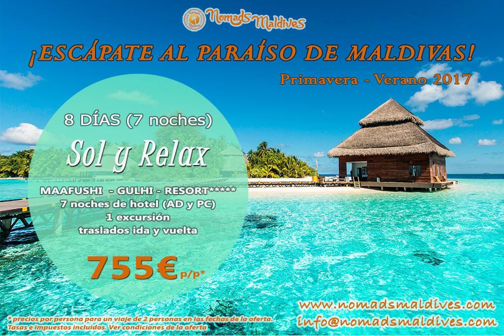 Oferta de viaje a Maldivas - Playas locales & Resort de lujo