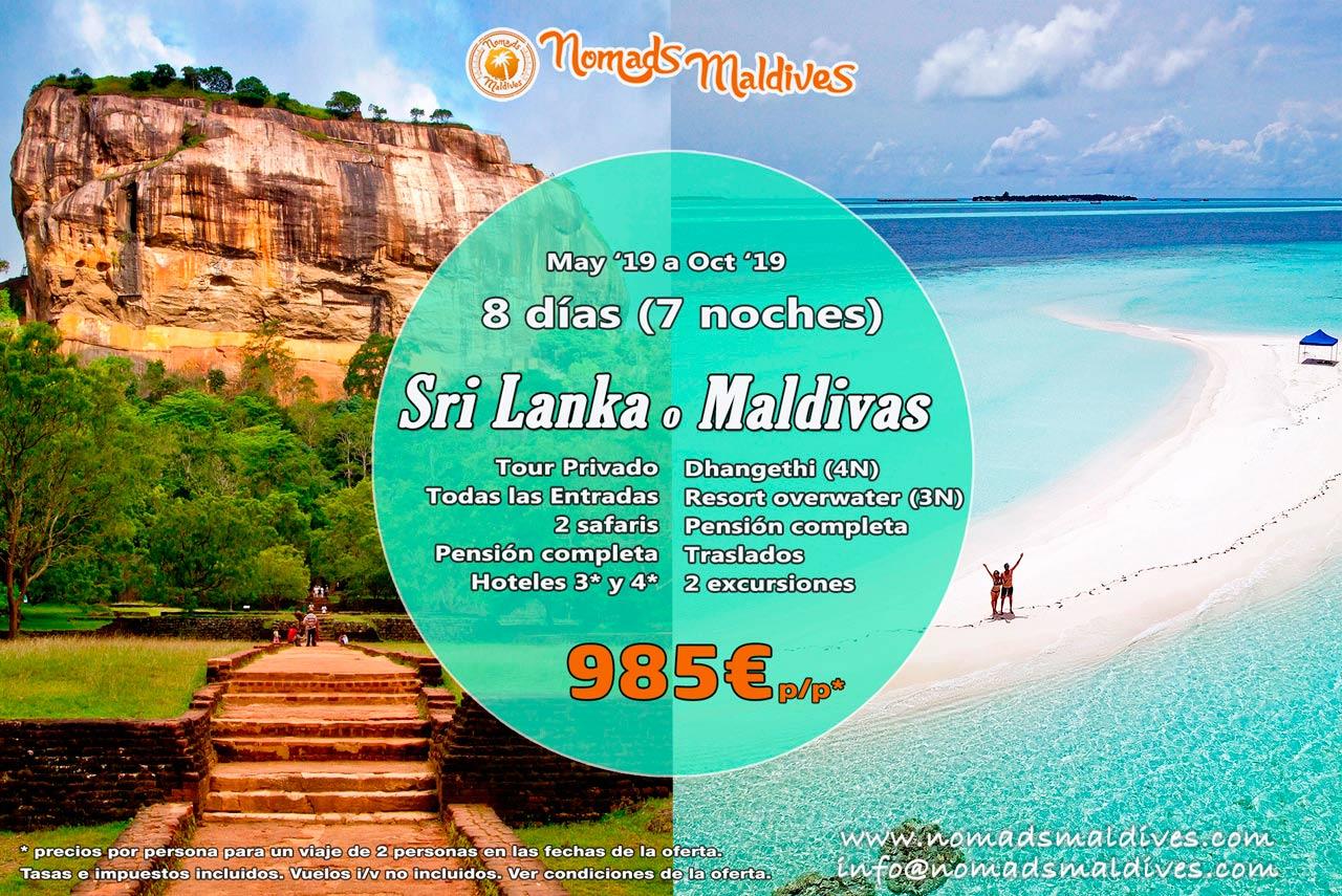 OFERTA 2019 MALDIVAS o SRI LANKA – Las vacaciones que estabas esperando