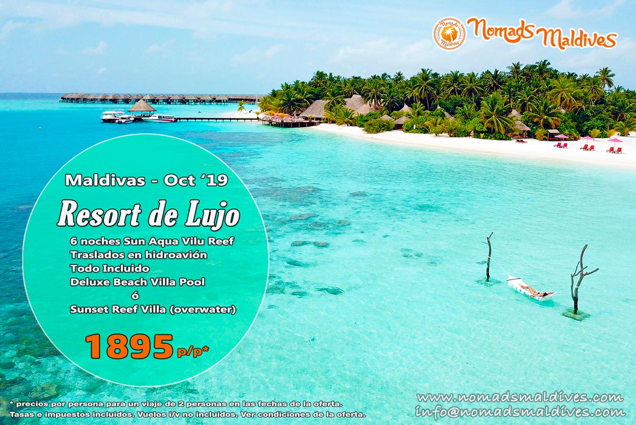OFERTA: Resort de Lujo en Maldivas – octubre 2019