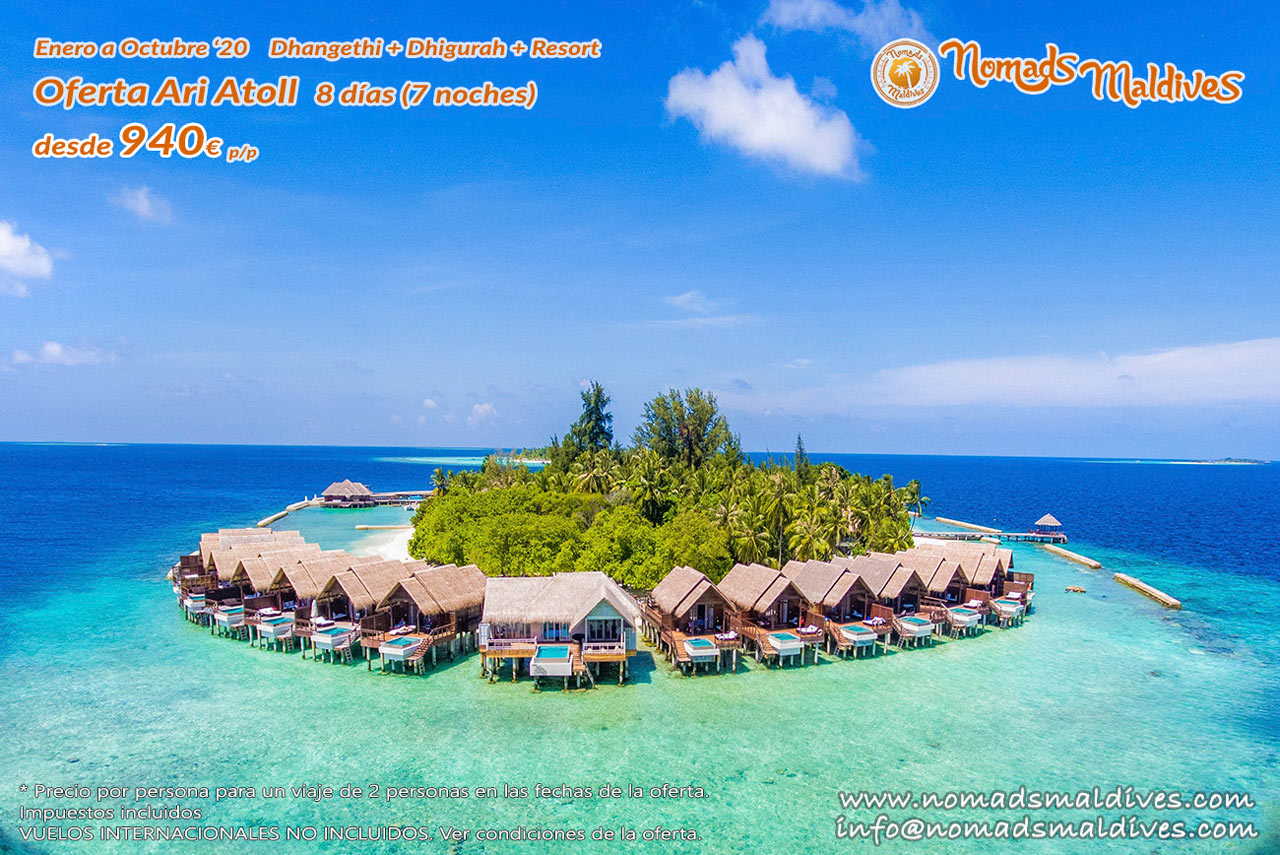 OFERTA: Ari Atoll Maldivas 2020
