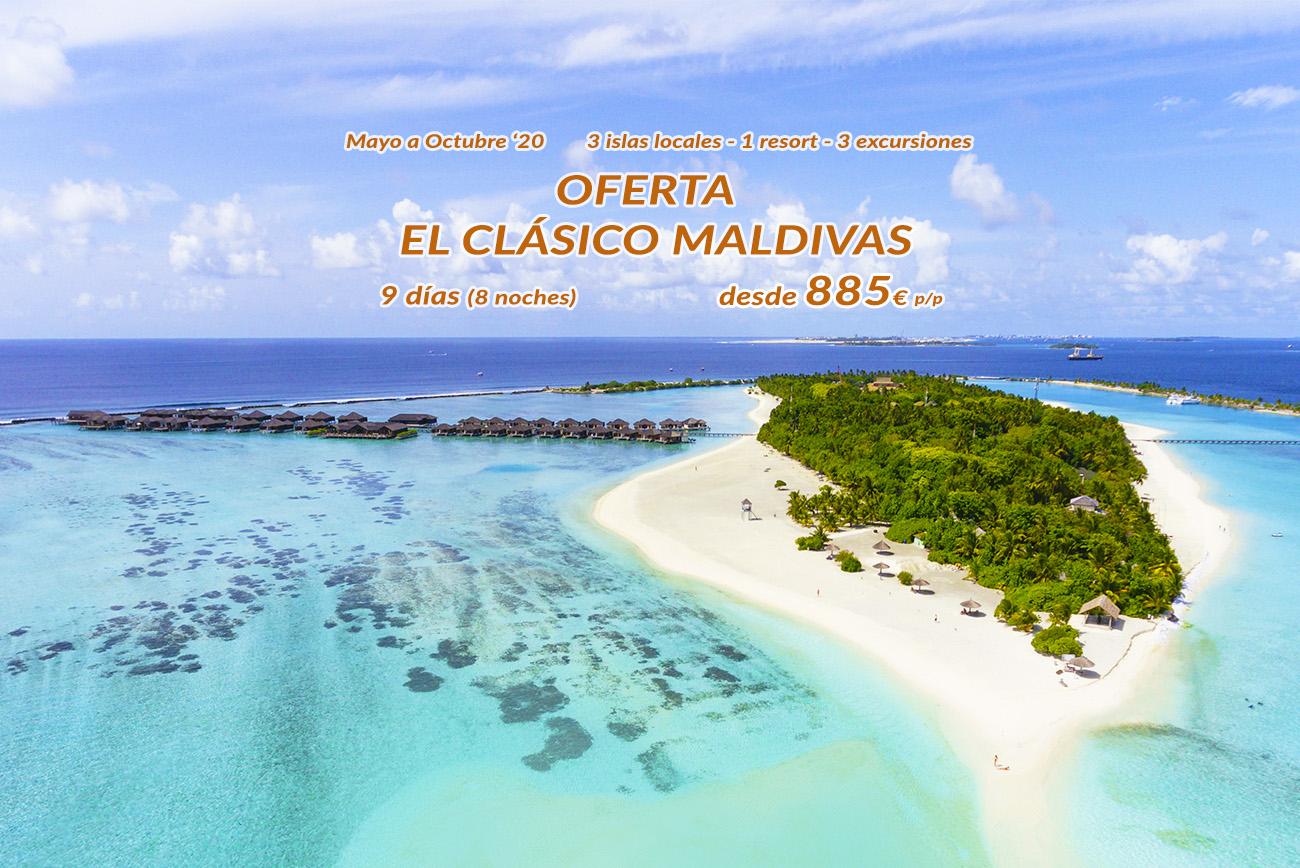 visita Maldivas este 2020 con nuestro viaje más clásico