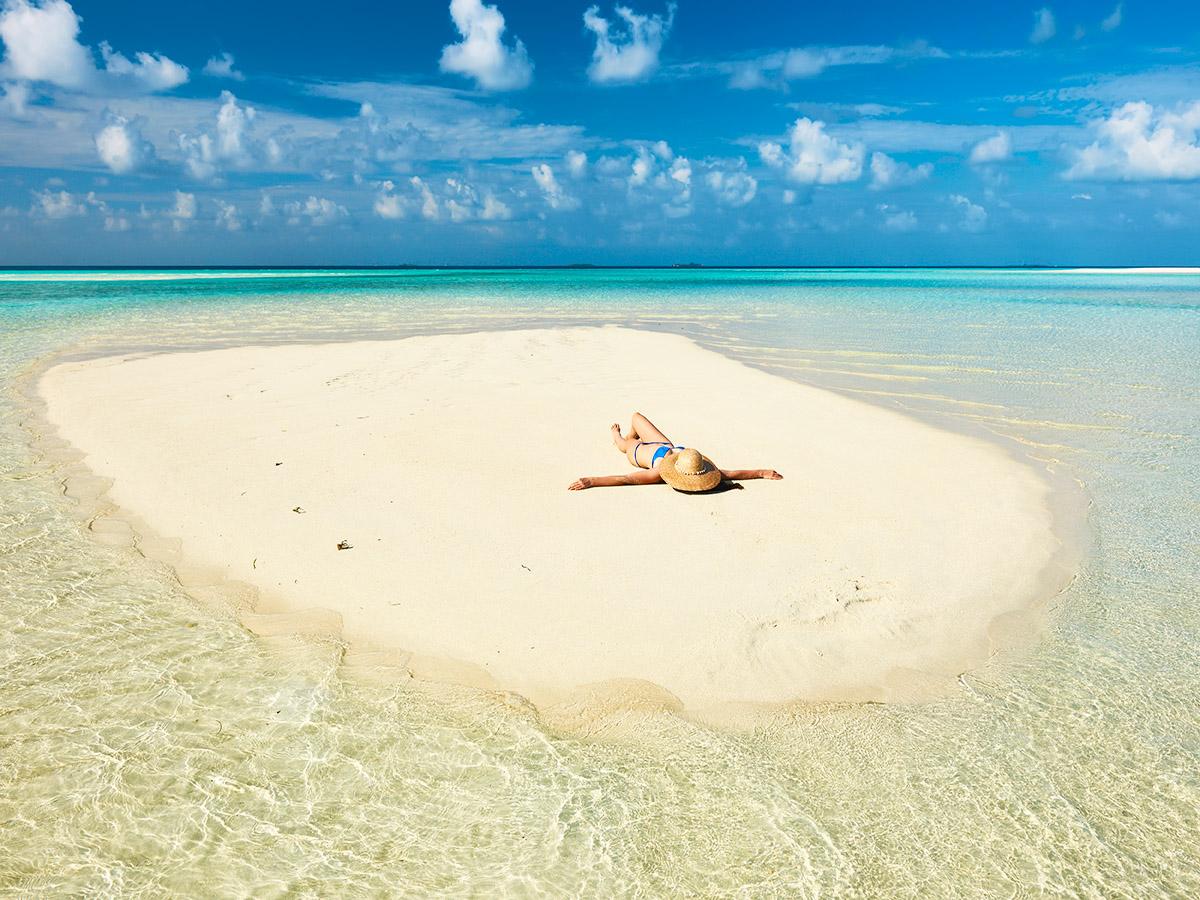 Visita un fotogénico sandbank en mitad del mar