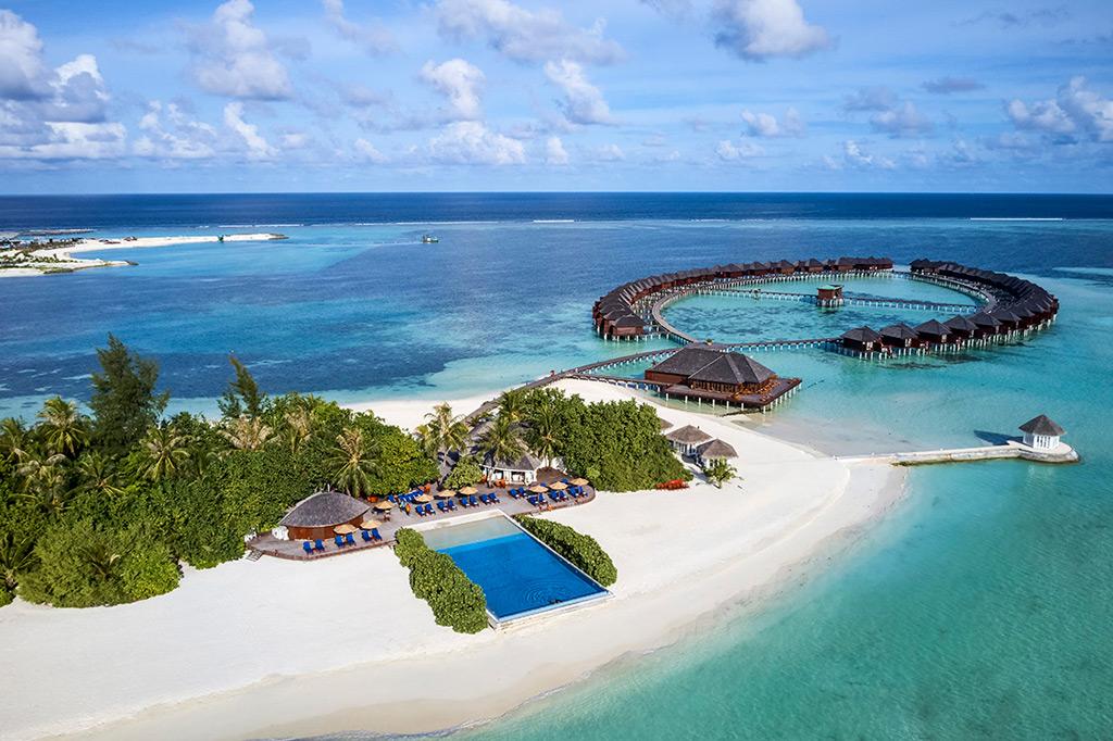 Piscina infinita Resort Olhuveli Beach & Spa - Maldivas