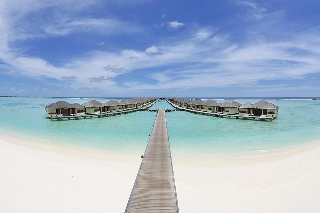 Panorámica de water villas de Paradise Island