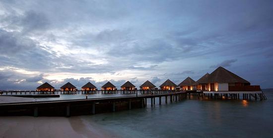 Villas sobre el agua del Adaaran Club Rannalhi