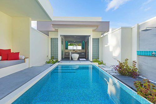 Piscina de la Beach Suite with Pool de Dhigali