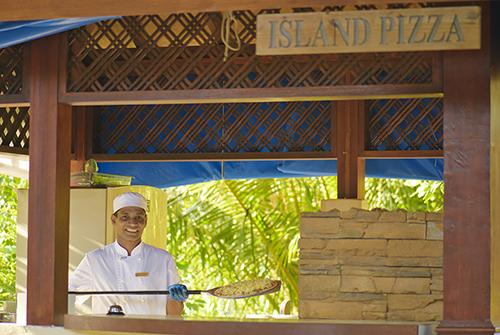 Restaurante Island Pizza de Olhuveli Beach & Spa