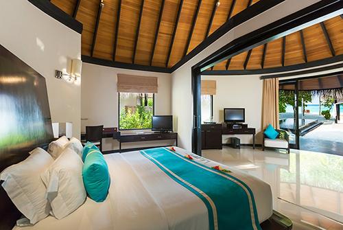 Family Deluxe Beach Villa with Pool en Sun Siyam Iru Fushi