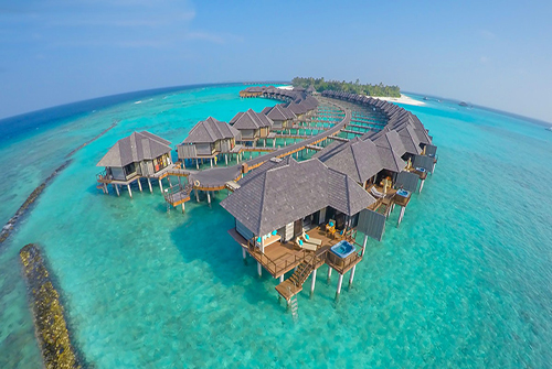 Horizon Water Villa en Sun Siyam Iru Fushi