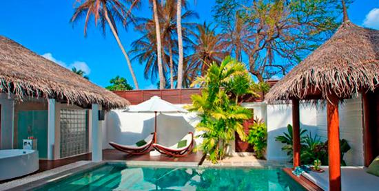 Piscina de la Pool Villa en Valassaru Maldives