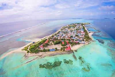 Vista aérea de Maafushi