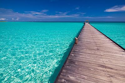 Embarcadero en el Océano Índico