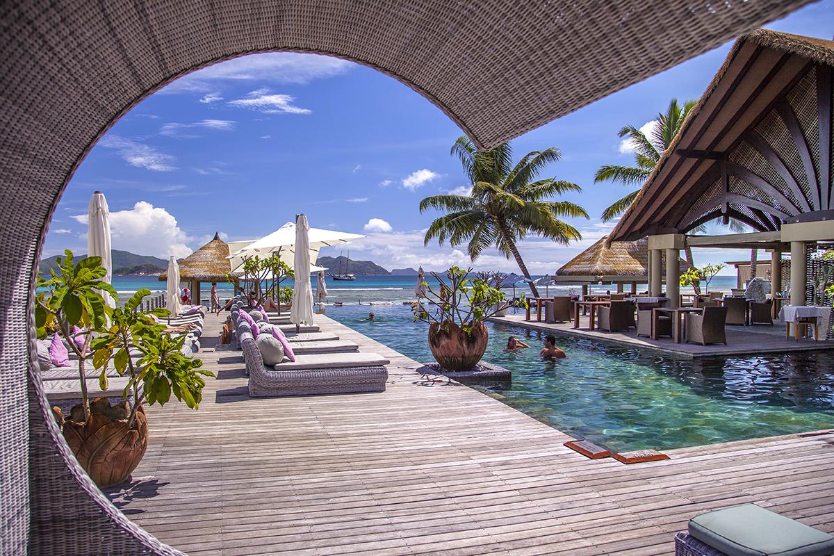 Vistas en resorts de Seychelles