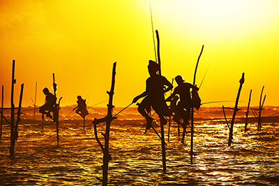 Pescadores de Weligama