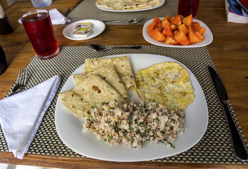 Comida en Maldivas