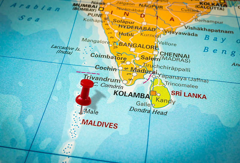 Geografía en Maldivas